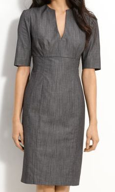 Calvin Klein Stretch Cotton Sheath Dress available at Simple Dresses, Casual Dresses, Fashion Dresses, Dresses For Work, Sheath Dress, Dress Skirt, Calvin Klein Dress, Classy Dress, Work Attire