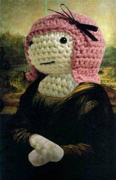 Knitted Mona Lisa