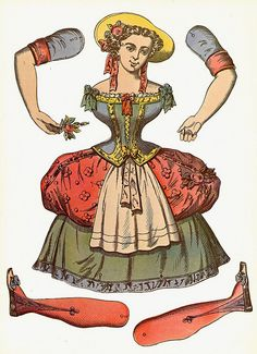 Looking for something creative to do with the kids while they are still off for the holidays? I remembered these vintage graphics of adorable hinged paper dolls graphics I had in my stash and had to share. Like little marionettes,. Paper Puppets, Paper Toys, Paper Art, Paper Crafts, Toy Theatre, Paper Dolls Printable, Vintage Paper Dolls, French Vintage, Art Dolls