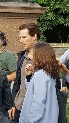 Benedict Cumberbatch filming THE CHILD IN TIME (BBC). April 2017. [Via @Anythingbatch on Twitter]