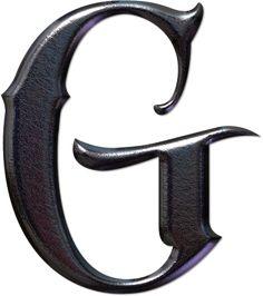 GIFS DE ABECEDARIOS Y LETRAS: Alfabeto gótico