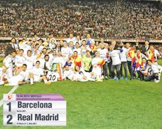 Real Madrid with the Copa del Rey Trophy!