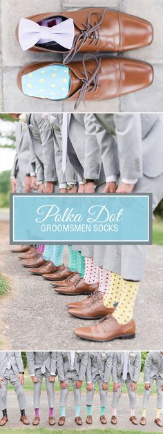 Colorful weddings are a fun, expressive way to showcase the personality of the bride and groom. Add in some colorful socks and you are onto something truly bold and wonderful. This spring and summer, dress your groomsmen in bright colored polka dot socks. Shop these wedding socks and more. Photo credit: http://mekinasaylor.pass.us/biancaandeugene/