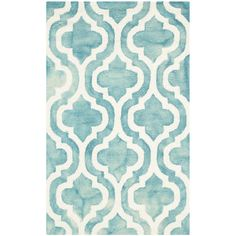 Found it at AllModern - Fairfax Hand-Tufted Turquoise/Ivory Area Rug