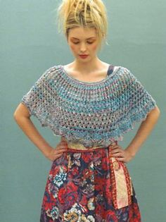 Phoebe Capelet pattern by Louisa Harding