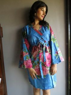 Knee length Robe Style Made From E2 Fabric Pattern