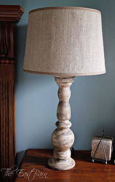 I ♥ Burlap- burlap pillow covers, wreaths, lamp shades. There is just something about it