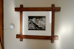 Custom Made Greene & Greene Influenced Picture Frame Wood Projects, Woodworking Projects, Craftsman Frames, Oak Picture Frames, Virginia Mountains, Red Oak, Barn Wood, Folk Art, Display