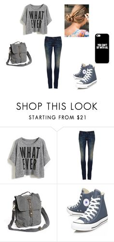 """#3"" by filhadosceus ❤ liked on Polyvore featuring 6397, Converse, women's clothing, women, female, woman, misses and juniors"