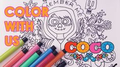 Kids YouTube Video:  Color with us! Coloring Book Page DISNEY PIXAR MIGUEL FROM COCO with MARKERS | dreamport