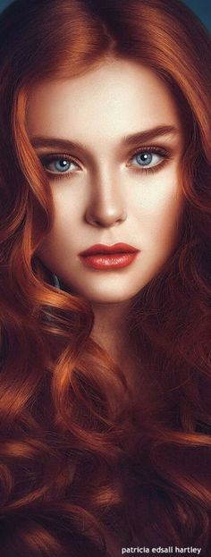 Gorgeous ~ with eyes that speak to you. THE Big collection of photos of beautiful girls on the beach, in the car, in the countryside. Look more. Foto Fantasy, Chica Fantasy, Fantasy Girl, Digital Art Girl, Digital Portrait, Portrait Art, Beautiful Redhead, Beautiful Eyes, Red Hair Woman