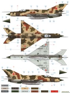 Here is our color profile and paint guide for the MiG-21R Fishbed H Soviet AF