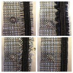 Chanel Tweed Jacket Underway: Trim and Fringe | Just Keep Sewing