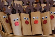 Tiny Reindeer - wrap mini candy bars by salior girl