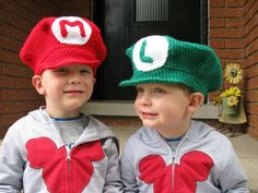 Super Mario Brothers  Mario or Luigi Hat by HookLineAndStitch, $20.00