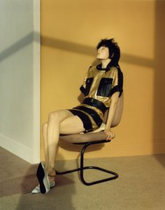 Edie Campbell & Sam Rollinson by Jamie Hawkesworth for Self Service SS 2014 [Editorial] - Fashion Copious