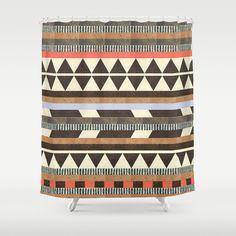 Dawn Gardner (dawngardner) DG Aztec No.1 Shower Curtain by Dawn Gardner