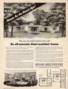 Protect Your Family From Nuclear War WIth a Fabulous Mid-Century Ranch House!