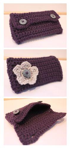 Crochet Clutch - FREE Pattern! ✭Teresa Restegui http://www.pinterest.com/teretegui/ ✭