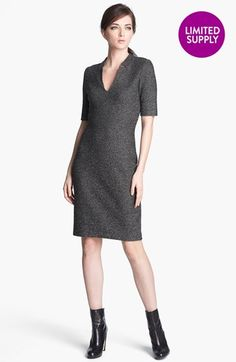 St. John Collection Donegal Tweed Knit Dress