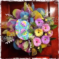 Easter Mesh Wreath!