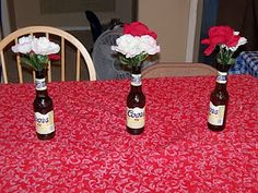 The Creative Party Mom: White Trash Birthday Bash. I can see these with plastic flowers. Redneck Birthday, Redneck Party, Bbq Party, Xmas Party, Party Time, Redneck Gifts, White Trash Wedding, White Trash Party, Trailer Trash Party