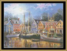 Ships Aglow [NB-31] - $16.00 : Mystic Stitch Inc, The fine art of counted cross stitch patterns