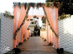 garden wedding reception ceremony backdrop garden wedding backdrop Best Picture For wedding ceremony decorations altars For Your Taste You are looking for something, and it is going to India Wedding Decorations, Sikh Wedding Decor, Wedding Backdrop Design, Wedding Mandap, Ceremony Backdrop, Simple Stage Decorations, Indian Wedding Stage, Wedding Walkway, Wedding Gate