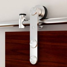 Stainless Glide Stainless Steel Interior Side Mount Barn Door Kit at Lowe's. The stainless steel rolling barn door hardware kits give your home an elegant flair that will stand out from the rest! Barn Door Track, Diy Barn Door, Sliding Barn Door Hardware, Sliding Doors, Window Hardware, Rustic Hardware, Front Doors, Steel Barns, Metal Barn
