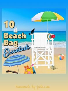 10 Beach Bag Essentials - Homemade by Jade Beach Bag Essentials, Pack Your Bags, Grow Your Own Food, Learn To Sew, Household Tips, Money Saving Tips, Organization Hacks, Helping People, Cleaning Hacks