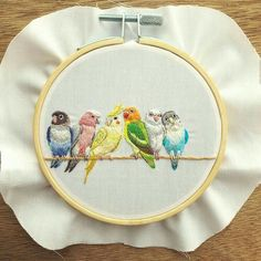 I had been left with a lot of things to do . Bird Embroidery, Creative Embroidery, Hand Embroidery Stitches, Modern Embroidery, Hand Embroidery Designs, Beaded Embroidery, Cross Stitch Embroidery, Embroidery Patterns, Little Presents