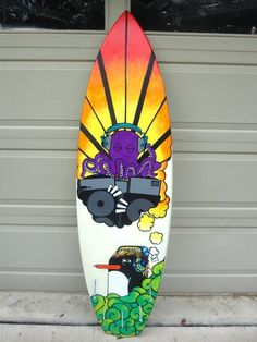 Surfboard Art by Madeleine Bellwoar!    http://madeleinebellwoar.carbonmade.com/