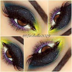 Colorful makeup - @labella2029