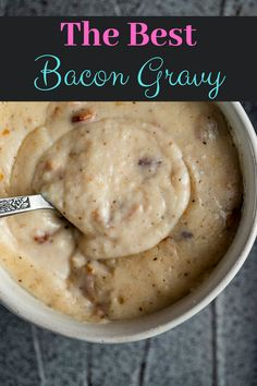 Homemade Gravy For Biscuits, Homemade Gravy Recipe, Biscuits And Gravy, Homemade Sauce, Gravy With Bacon Grease, Bacon Gravy, Sausage Gravy, Brunch Recipes, Breakfast Recipes