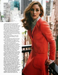 Olivia Palermo For HELLO FASHION Magazine