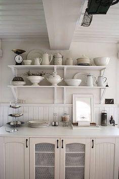 White on white interior design kitchen