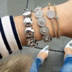 Platinum Metallic Bracelet ALL JEWELRY IS BUY 2 GET 1 FREE PAIR OF EARRINGS! This bracelet is a brand new retail item! We only use the highest quality crystals & stones for all of our jewelry, giving our pieces lots of sparkle and an expensive look! Every piece has been given the upmost time and care when created and has been made and designed with quality and durability in mind. Every piece is nickel and lead free. Almost every item is an exclusive item; meaning once sold its gone for…