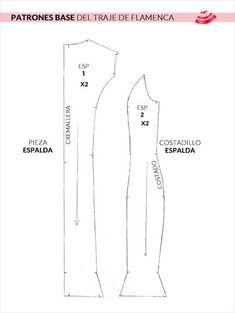 patrones base del traje de flamenca - espalda