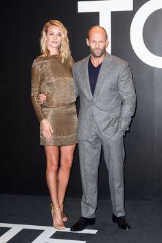 Rosie Huntington-Whiteley and Jason Statham in Tom Ford   - HarpersBAZAAR.com