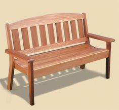 Woodworking Bench Garden Bench Woodworking Plans This attractive cedar Garden Bench will be a welcome addition to any yard, garden or porch area. It's comfortable, sturdy design will last for years. Garden Bench Plans, Outdoor Garden Bench, Patio Bench, Diy Bench, Garden Benches, Garden Planters, Bench Storage, Rooftop Garden, Storage Ideas