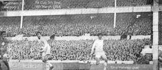 Tottenham 1 Liverpool 1 in March 1968 at White Hart Lane. Tony Hateley scores for Liverpool in the FA Cup 5th Round.