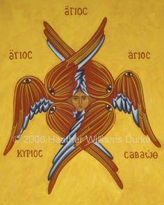 Seraphim - Sacred Image by Heather Williams Durka