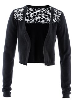 little black cardigan with lace <3