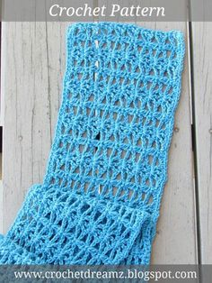 Lacy Scarf Crochet Pattern for Spring. Visit my blog to access the free crochet pattern.