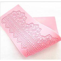 pastel de moda herramientas forma de encaje de silicona fondant de chocolate decoración estera molde cocina utensilios para hornear – EUR € 7.99