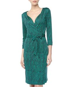 Get this silk, teal @DVF wrap-dress for less than half price. $160 #fashionsteal #bargain