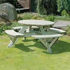 Wye Circular Picnic Table | Garden Furniture | Mole Valley Farmers