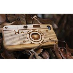 [100% Holz] Gehäuse Bambus-Schutzhülle/Hülle/Tasche/Etui/Case für iPhone 4/4S (Camera1) + Gratis Displayschutz Folie von SigniCASE: Amazon.de: Elektronik