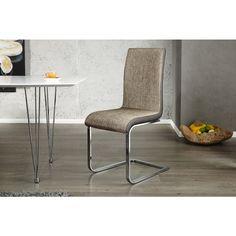 Moderne vrijdragende zweefstoel Metropolis II cappuccino - 20109
