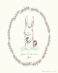 Some bunny loves you printable